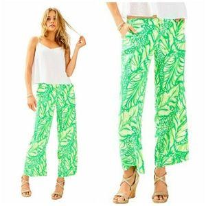 NWT Lilly Pulitzer Lela Wide Leg Crop pant size 4